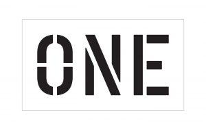 one stencil
