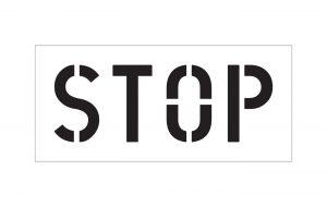 Stop Stencil