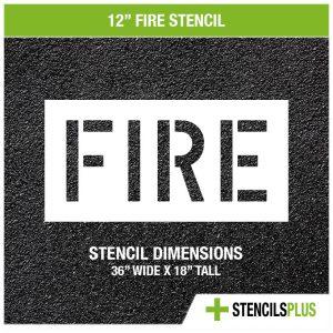 12 inch fire stencil