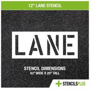 12 inch lane stencil