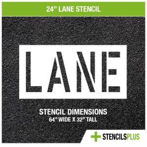 24 inch lane stencil