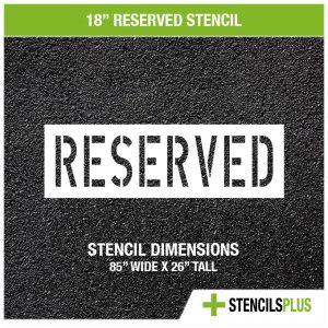 18 inch reserved stencil