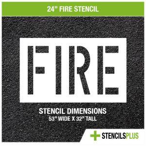 24 inch fire stencil