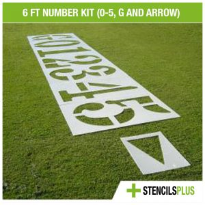 6 FT Football Number Kit