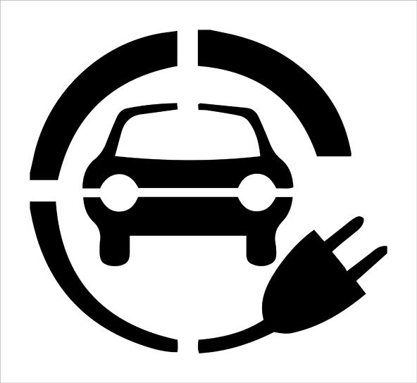 EV Charging Stencil