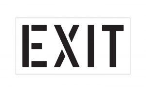 Exit Stencil
