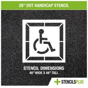 28 inch DOT handicap stencil