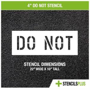 4 inch do not stencil