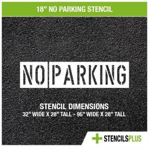 18 inch no parking stencil