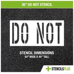 36 inch do not stencil