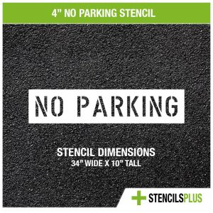 4 inch no parking stencil