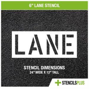 6 inch lane stencil