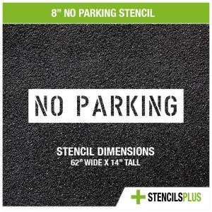 8 inch no parking stencil