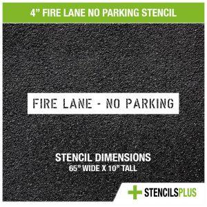 4 inch fire lane no parking stencil