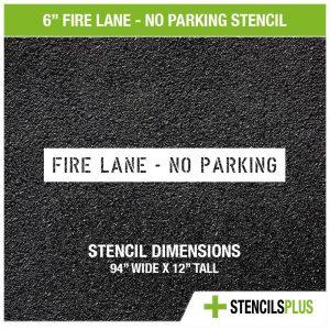 6 inch fire lane no parking stencil