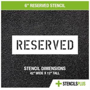 6 inch reserved stencil