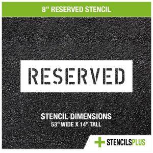 8 inch reserved stencil